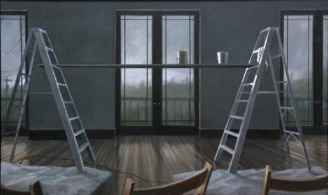 """Norman Lundin (American, born 1938), Music Room, 2008, oil on canvas, 37 x 67"""", courtesy of the artist and Francine Seders Gallery, Seattle, Washington. Photo: Norman Lundin"""