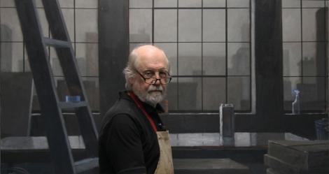 Norman Lundin in his studio