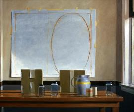'Still Life with Oval', oil on canvas, 40x48', 2002; private collection