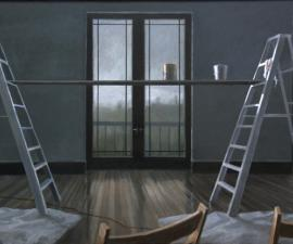 """The Music Room"", 2008, oil on canvas, 36 x 60"""