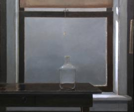 """Still Life for A Gray Afternoon"", 2009, oil on canvas, 36 X 40 inches"