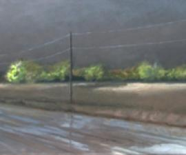 """Tornado Weather I"", 2010, oil on canvas, 20 x 90"""