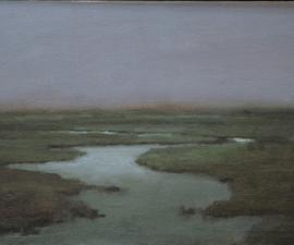 'Arctic River at Night #2', 2010, oil on canvas, 10 X 16 inches