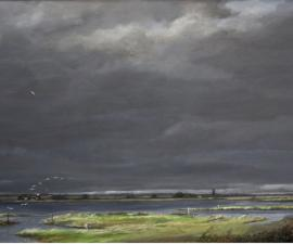 'Twenty five Birds - Wetlands', 2009-11, oil on canvas, 42 x 54'