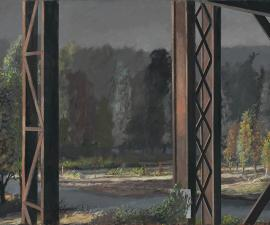 """""""From the Railway Trestle"""", 2019, oil on canvas, 48"""" x 72"""""""