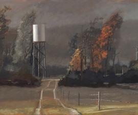 """Rainstorm, Sun Break"", 2019, oil on canvas, 42"" x 82"""