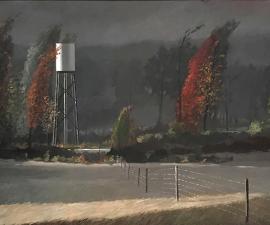 """Rainstorm, Sun Break II"", 2019, oil on canvas, 60"" x 108"""